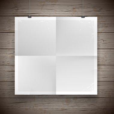 Blank paper poster vintage background