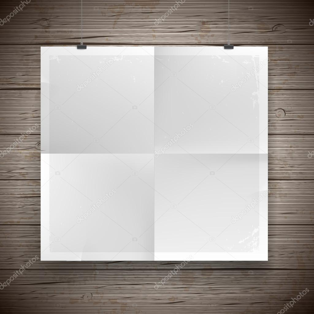 Blank paper poster vintage background