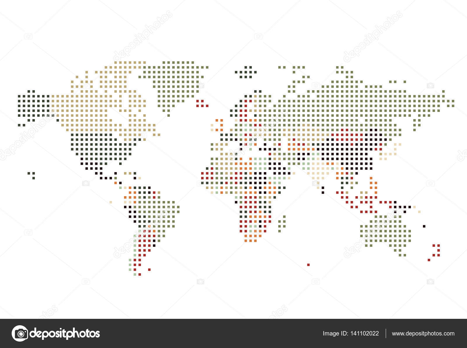 Dotted world map of square dots stock vector ildogesto 141102022 dotted world map of square dots on white background vector illustration vector by ildogesto gumiabroncs Gallery