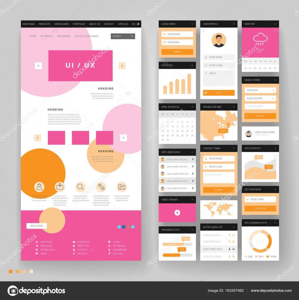 Дизайн шаблона сайтов 62