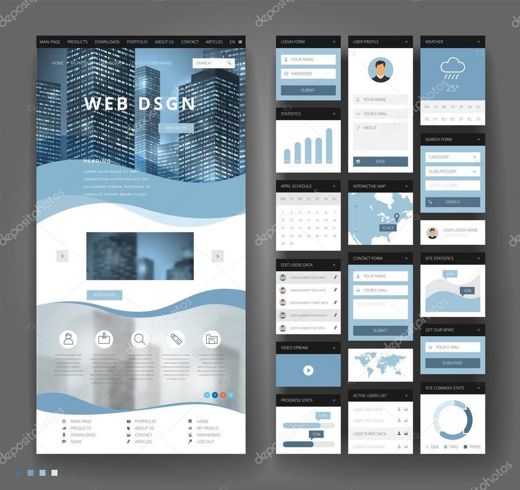 Ziemlich Vorlage Design Website Bilder - Beispiel Wiederaufnahme ...