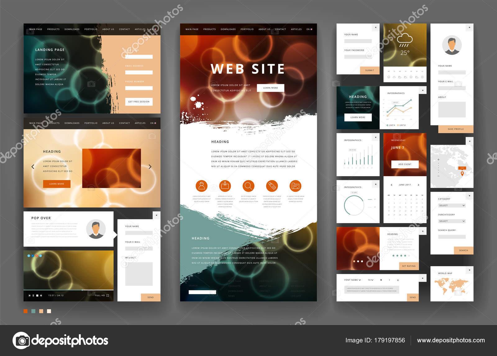 Nett Designvorlagen Für Benutzeroberflächen Bilder - Beispiel ...