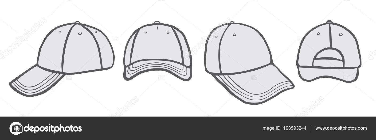 27170466f0e Blank Cap (different points of view) With Space For Your Design — Vector by  ...