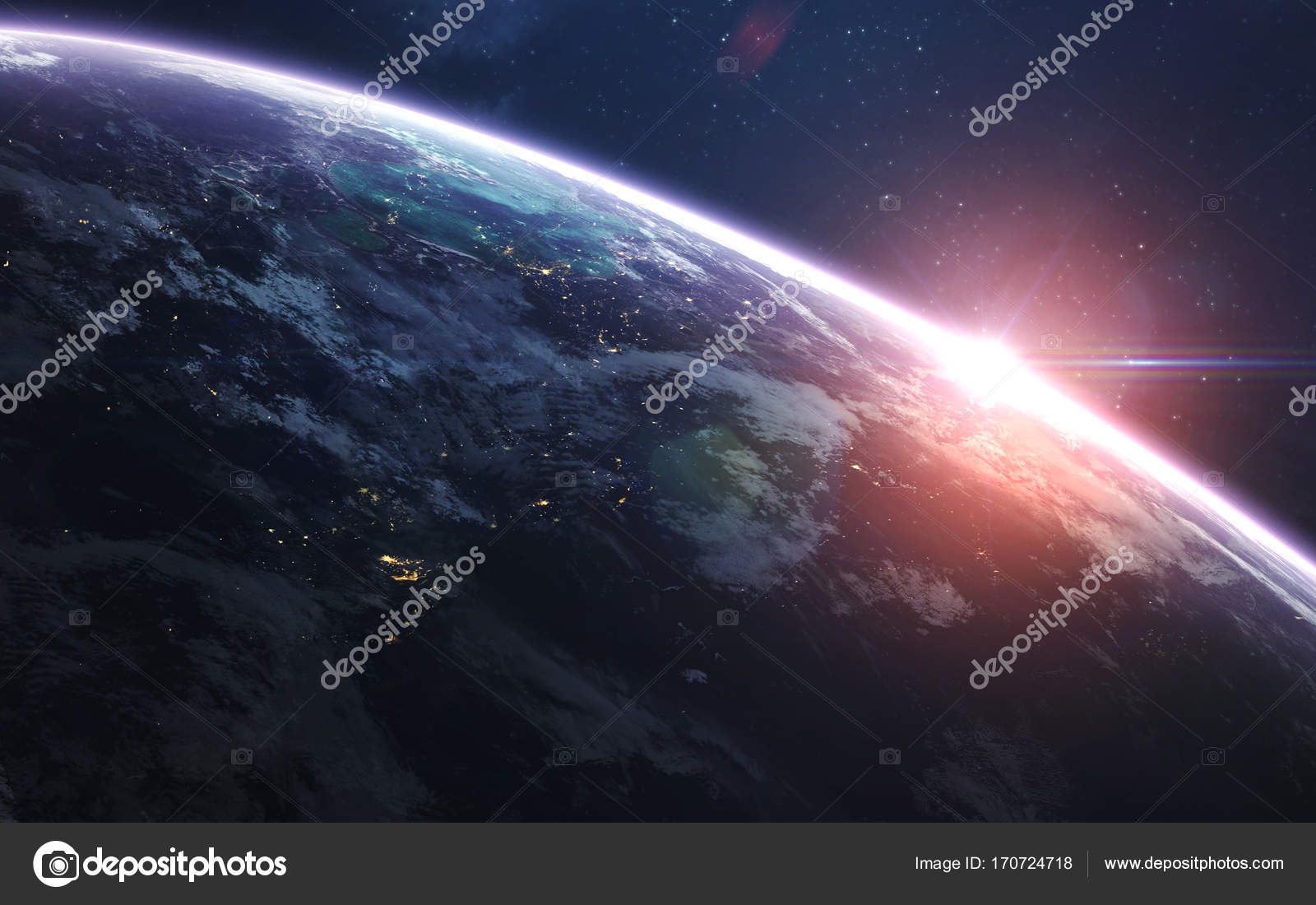 Earth Abstract Space Wallpaper Universe Filled With Stars Nebulas