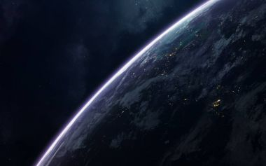 Earth. Science fiction space wallpaper, incredibly beautiful planets, galaxies, dark and cold beauty of endless universe. Elements of this image furnished by NASA