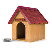 Fényképek Wooden doghouse (3d illustration).
