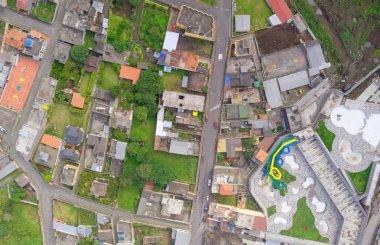 Aerial view of the Banos de Agua Santa