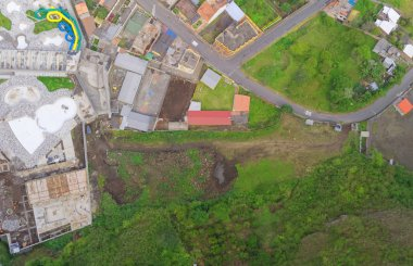 Banos De Agua Santa Aerial Panorama, Ecuador