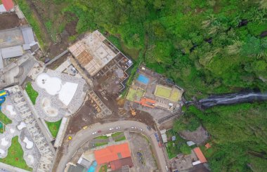 Banos De Agua Santa Aerial Telephoto, Ecuador