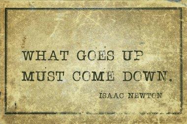 come down Newton