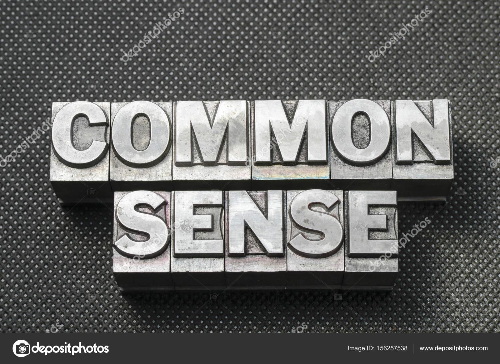 Frase de sentido común hecha de bloques de la tipografía metálica de  superficie perforada negra - imágenes: sin sentido comun — Foto de ...