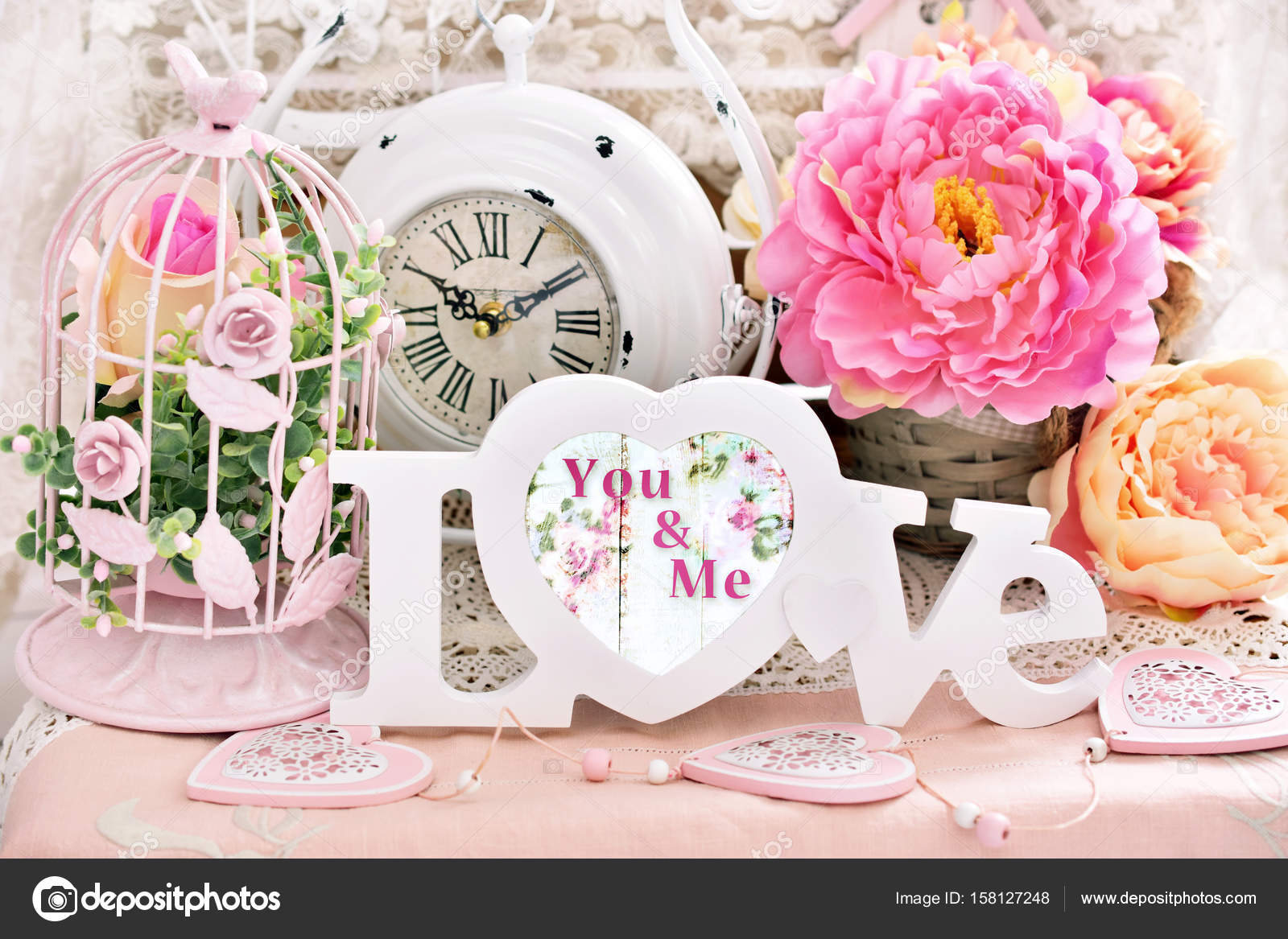 Romantic Shabby Chic Love Decoration Stock Photo C Teresaterra - Decoracion-shabby-chic-vintage