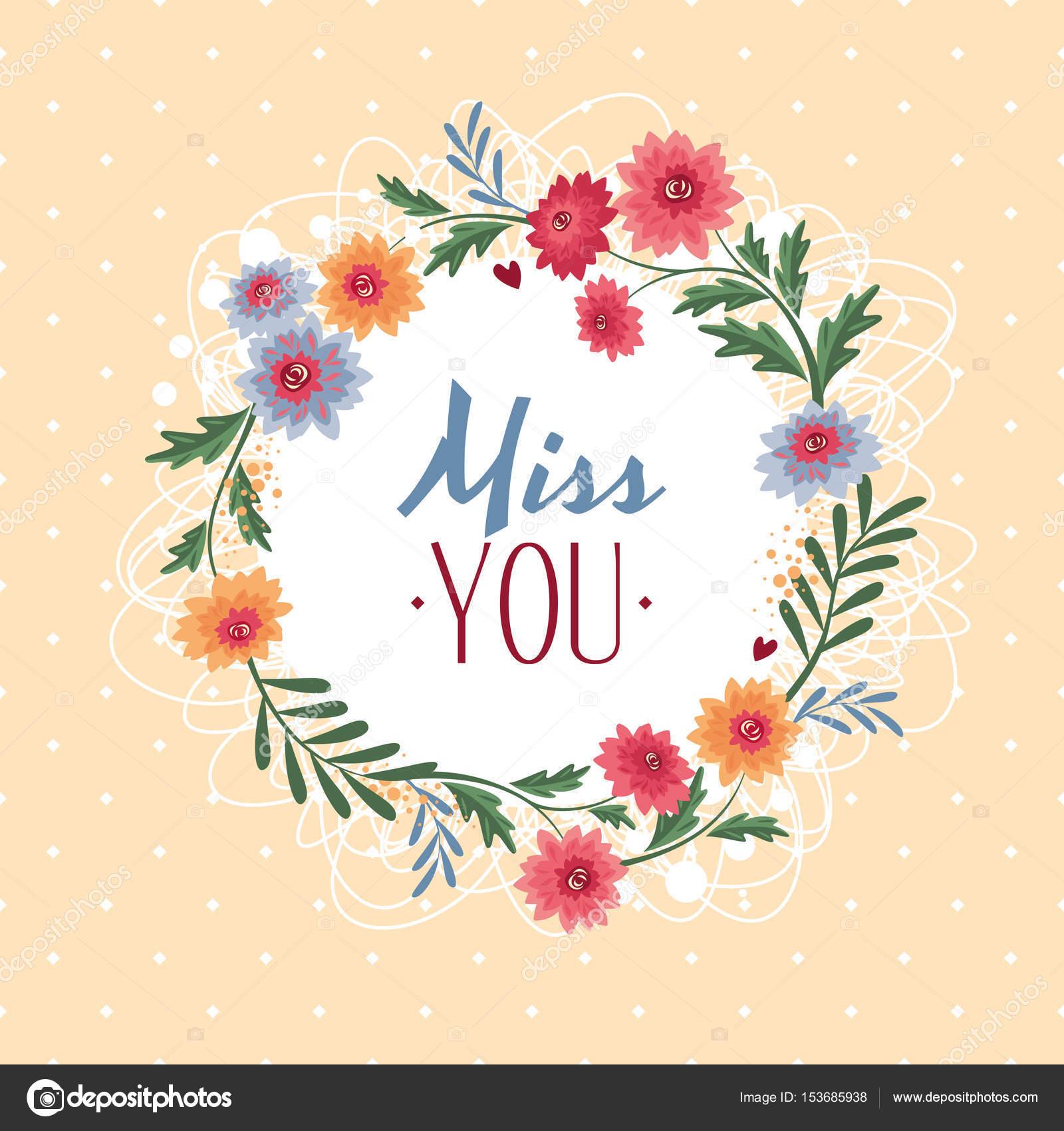 Miss you gift card stock vector selenamay 153685938 miss you gift card stock vector kristyandbryce Image collections