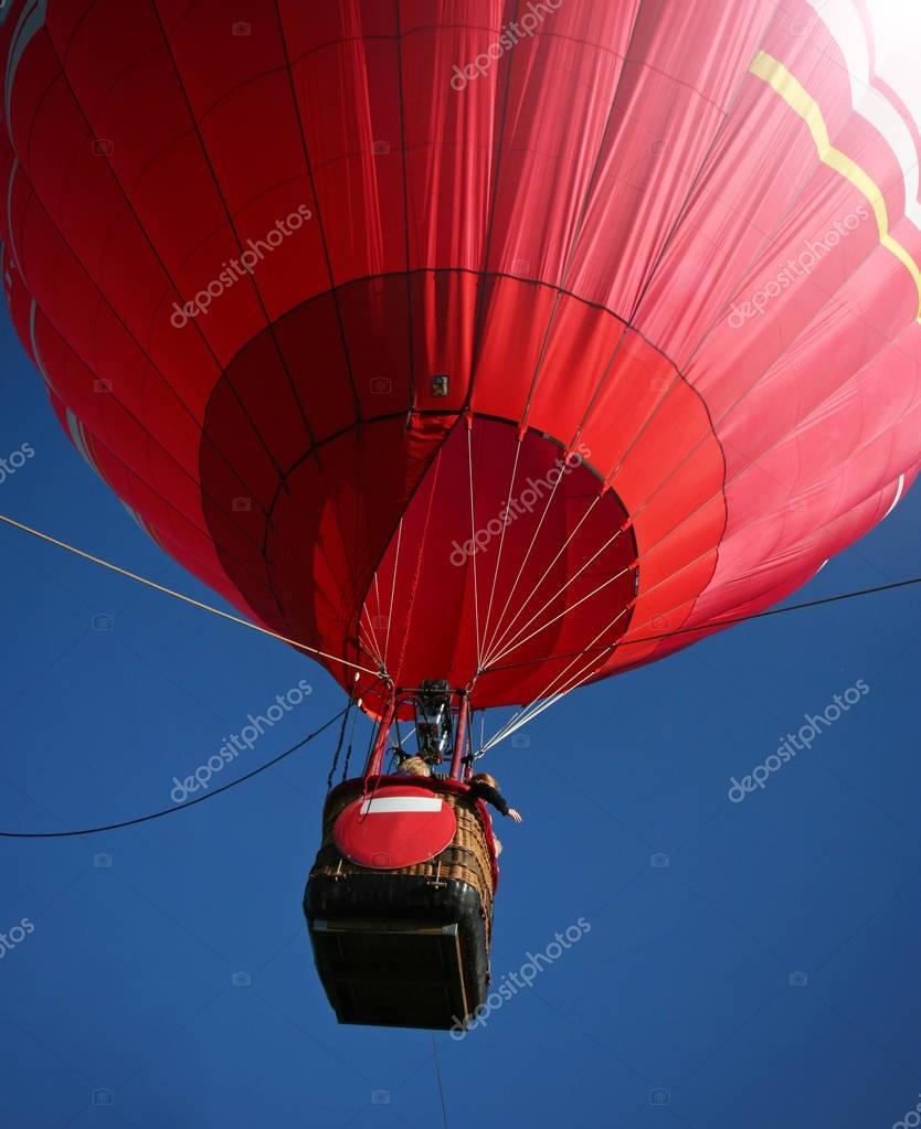 hot air balloon in the sky