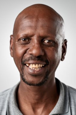 Happy smiling african man