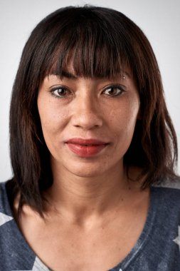 mixed race woman face