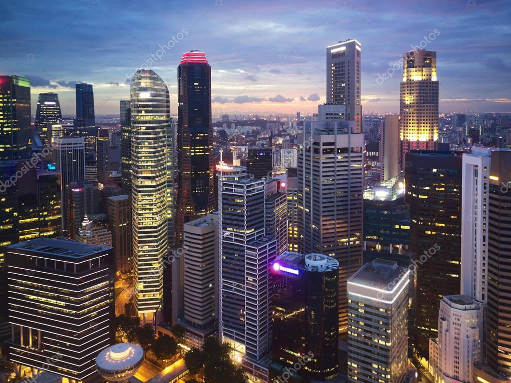 Tall Modern city skyscrapers