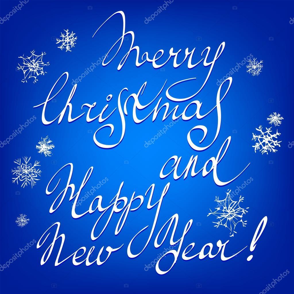 Frohe Weihnachten Und Happy New Year.Frohe Weihnachten Und Happy New Year Hand Schriftzug Handgemachte