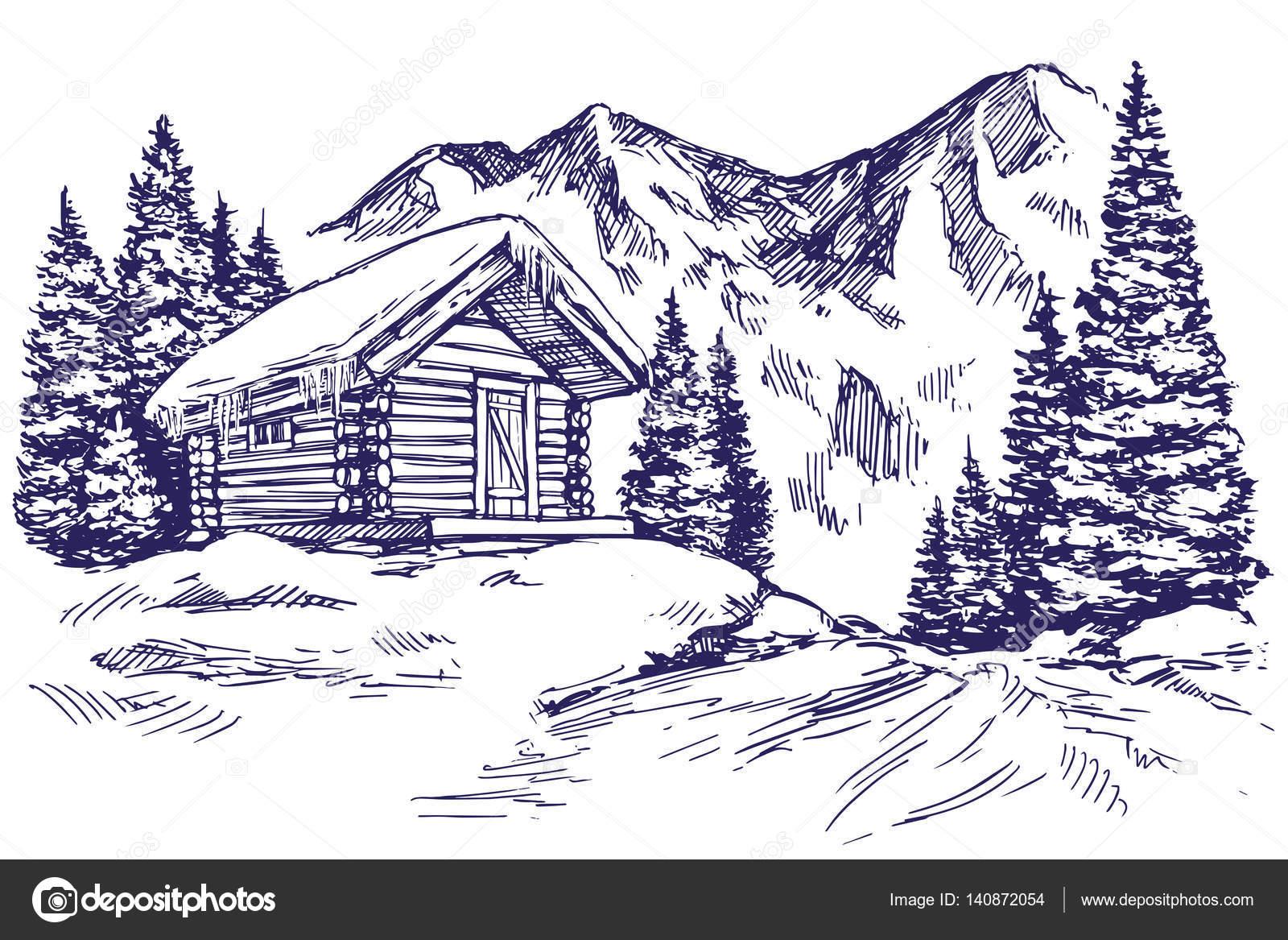 Imágenes Montañas Con Nieve Para Colorear Casa En Montaña
