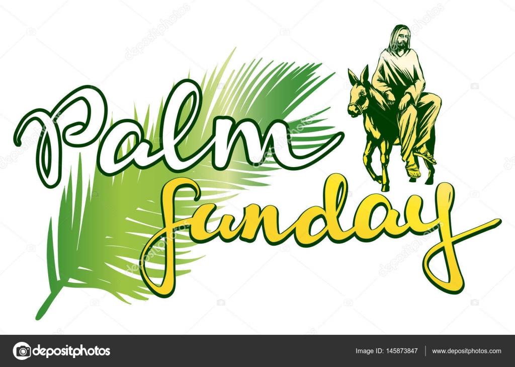 Palm Sunday Jesus Christ Rides On A Donkey Into Jerusalem Symbol