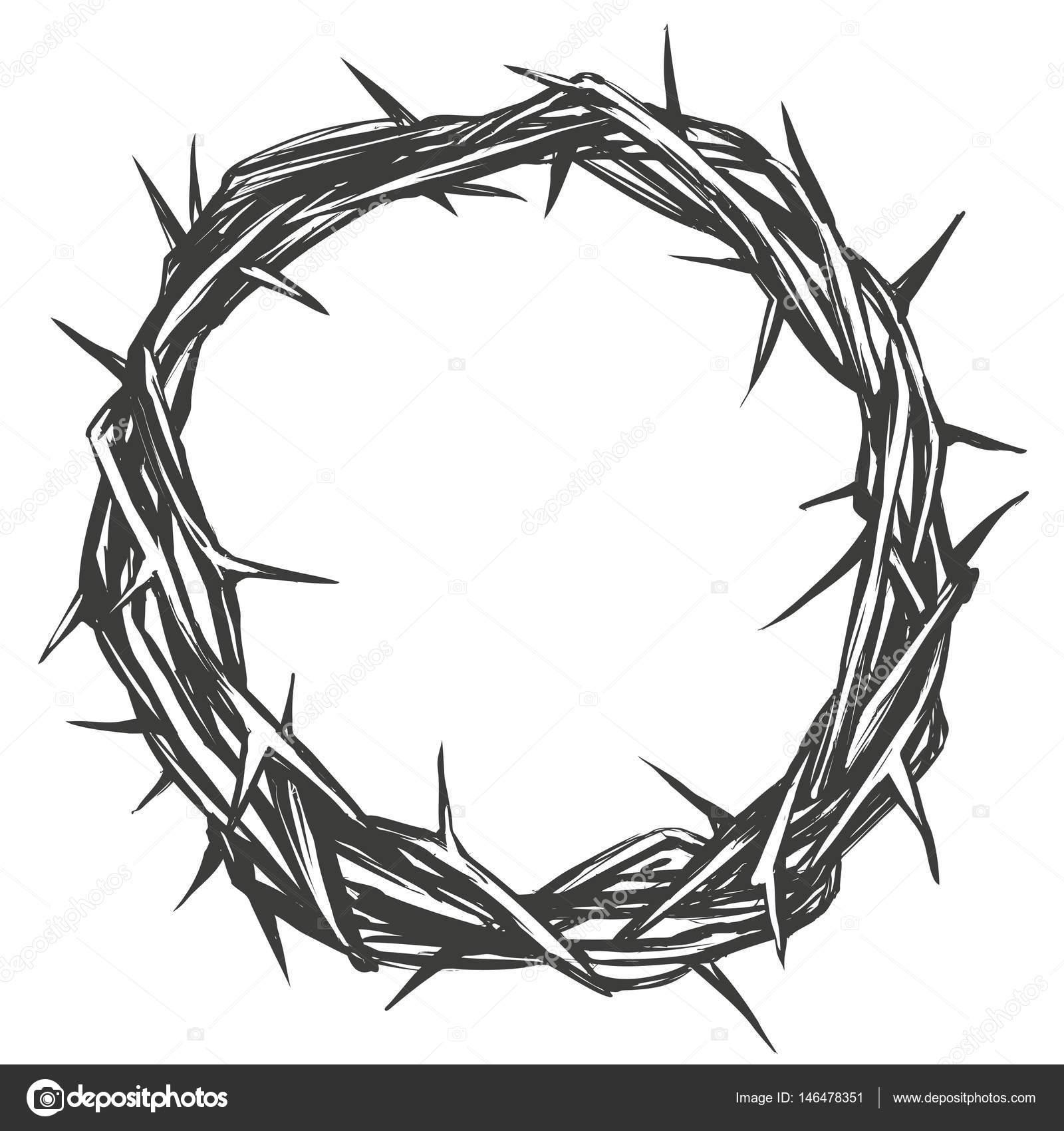 Corona De Espinas Símbolo Religioso De Semana Santa Del