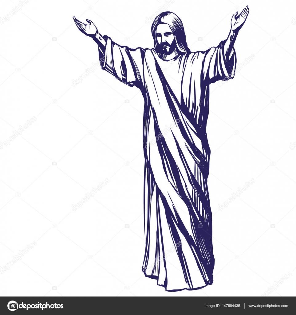 Jesus christ the son of god symbol of christianity hand drawn jesus christ the son of god symbol of christianity hand drawn vector illustration buycottarizona Image collections