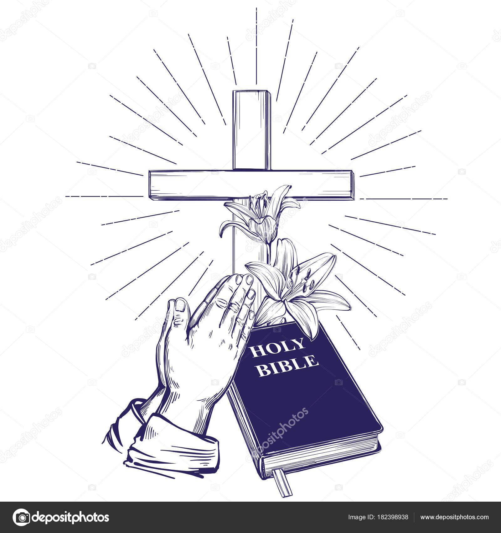 手聖書福音木製の十字架いばらの冠を祈ってくださいイースター