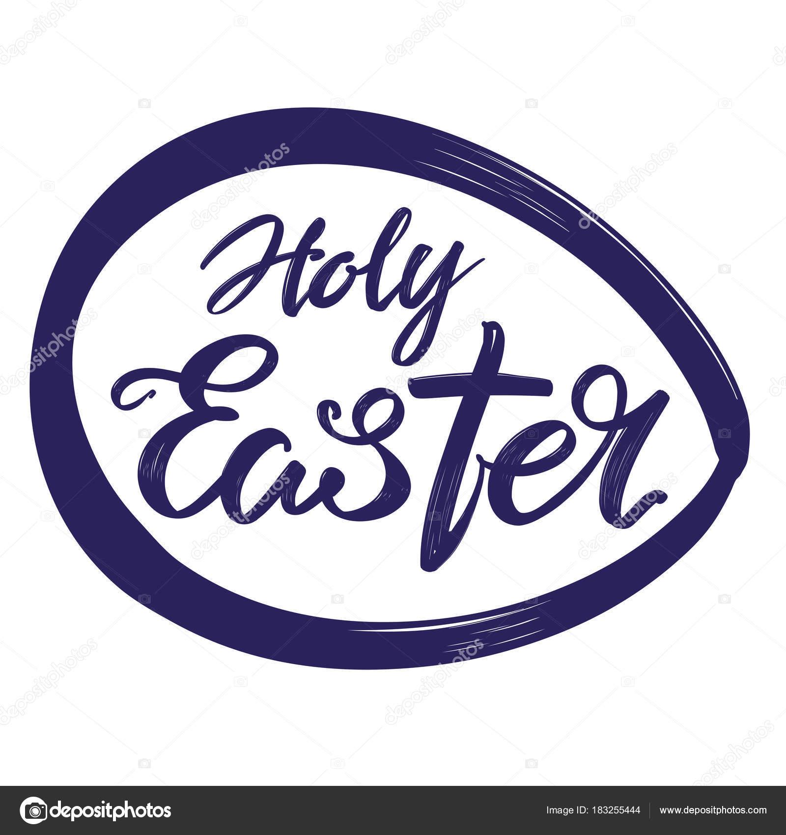 Easter egg holiday religious calligraphic text symbol of easter egg holiday religious calligraphic text symbol of christianity hand drawn vector illustration sketch buycottarizona
