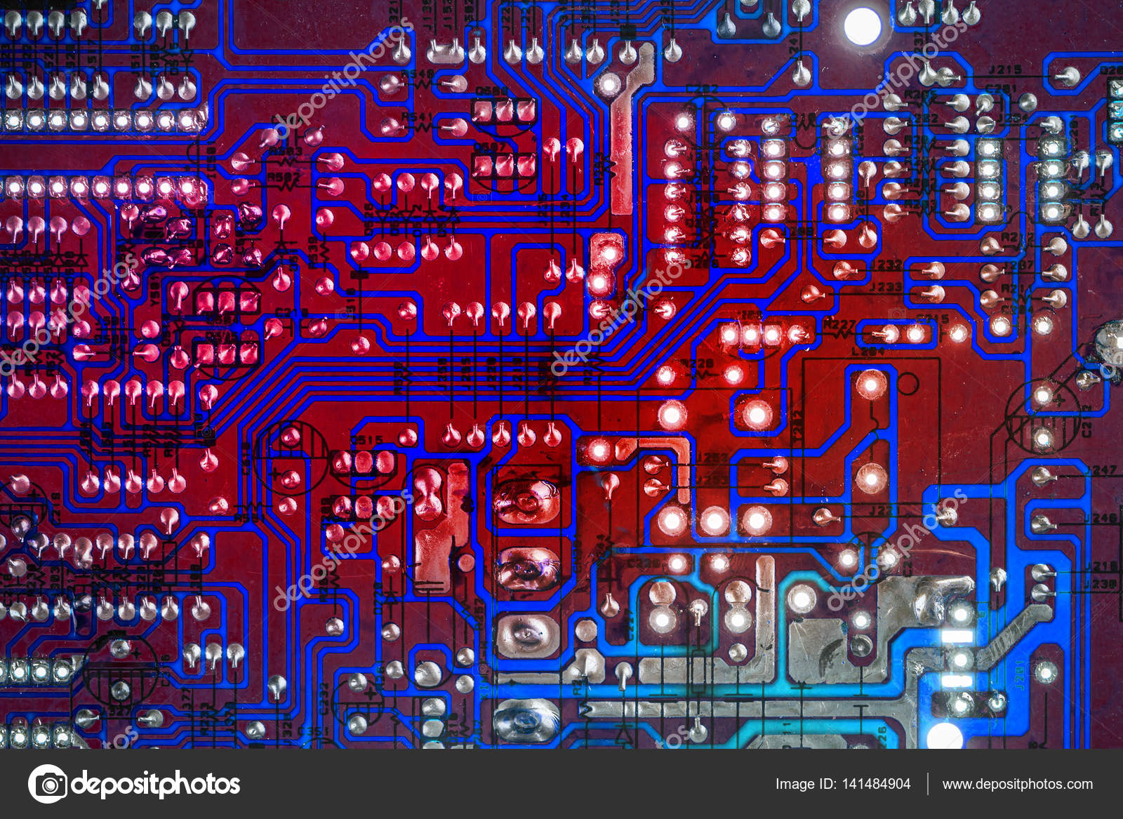 Electronic Printed Circuit Board Stock Photo Grafvision 141484904 With Many Electrical Components Detail Of An By