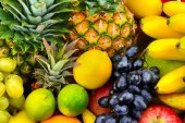 collection fresh fruits and vegetables