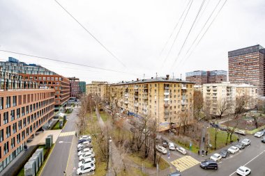 MOSCOW/RUSSIA- SEPTEMBER 21 2019 streets and houses in the center of Moscow in the fall