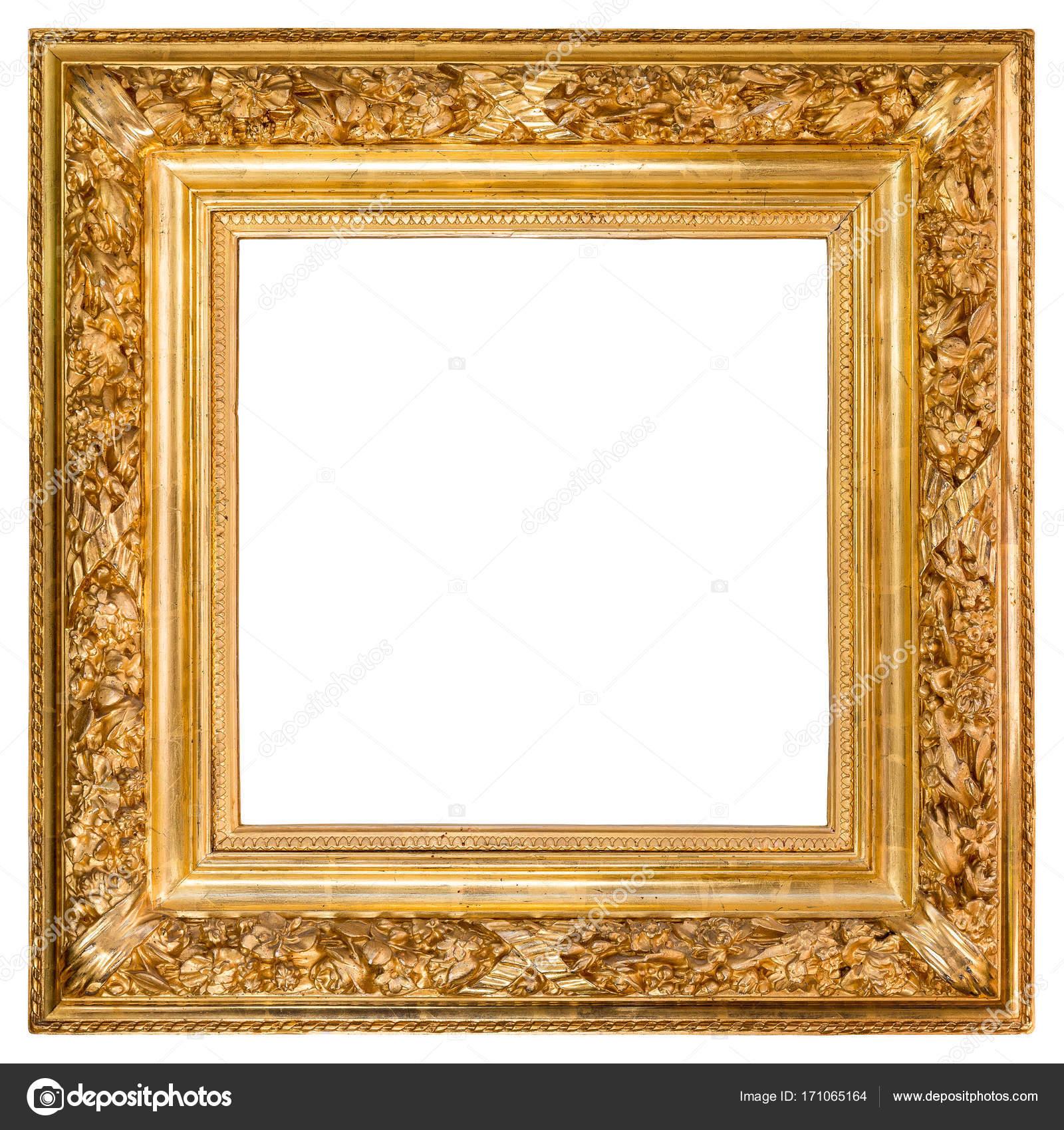 Antique Golden Frame Over White — Stock Photo © creisinger #171065164