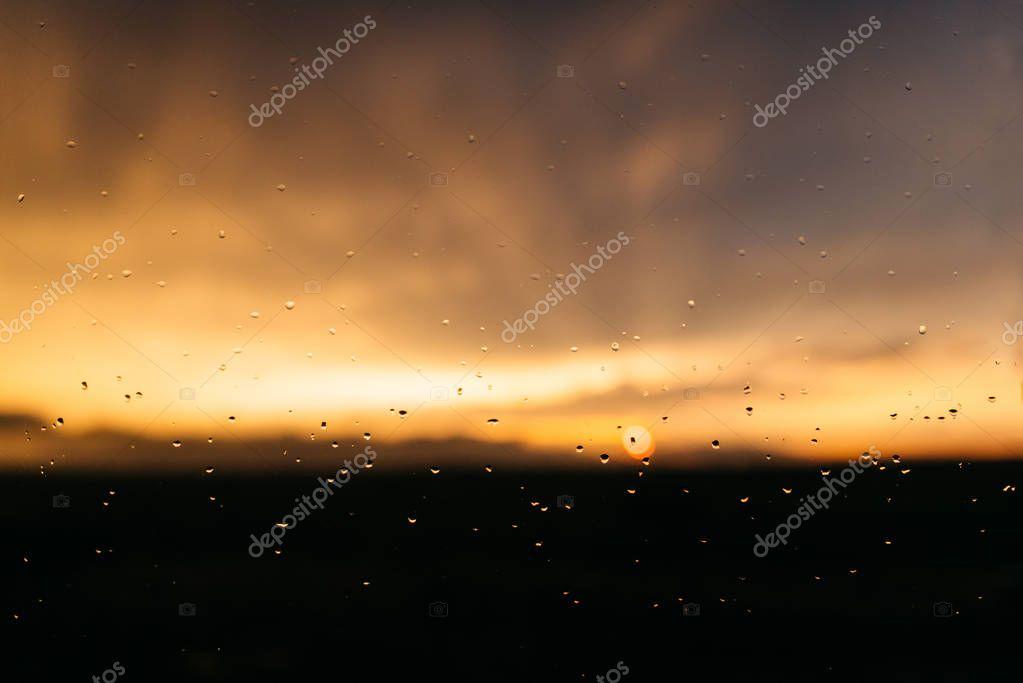 Sunset through the glass
