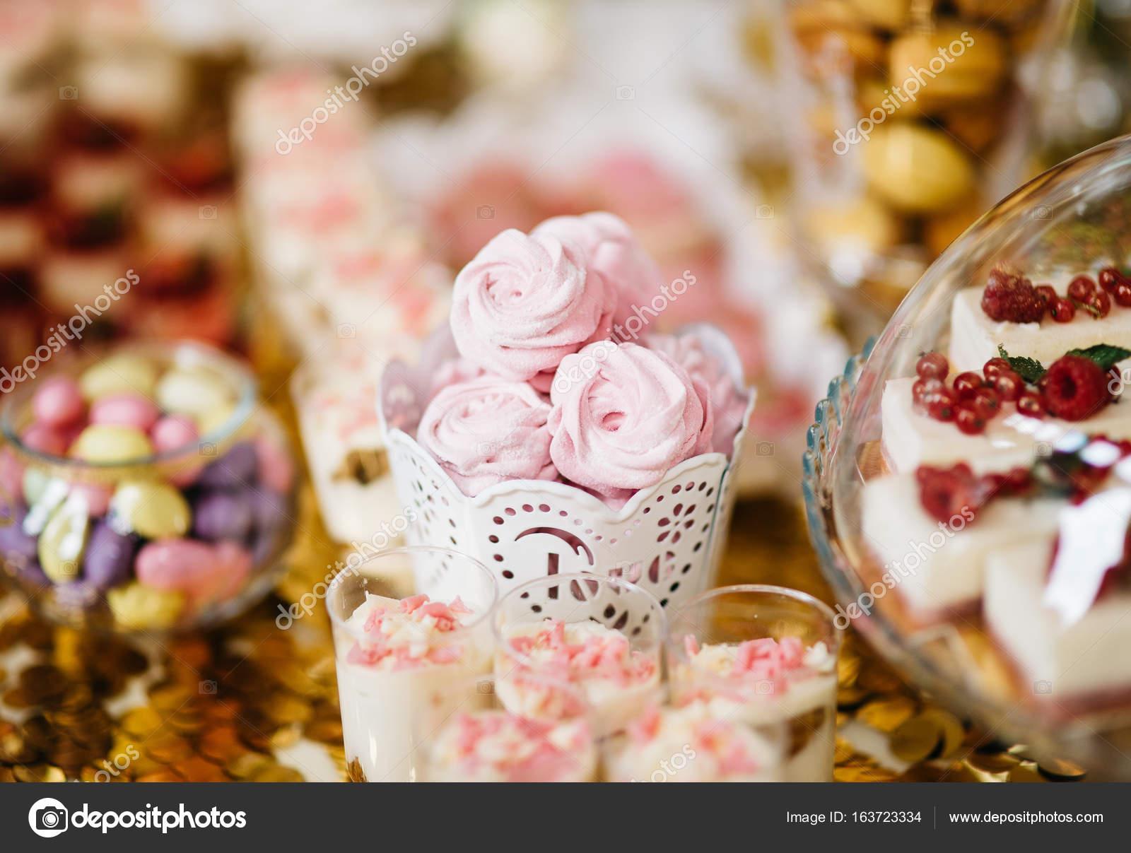 Delicious Wedding Reception Candy Bar Stock Photo Terletskyigor
