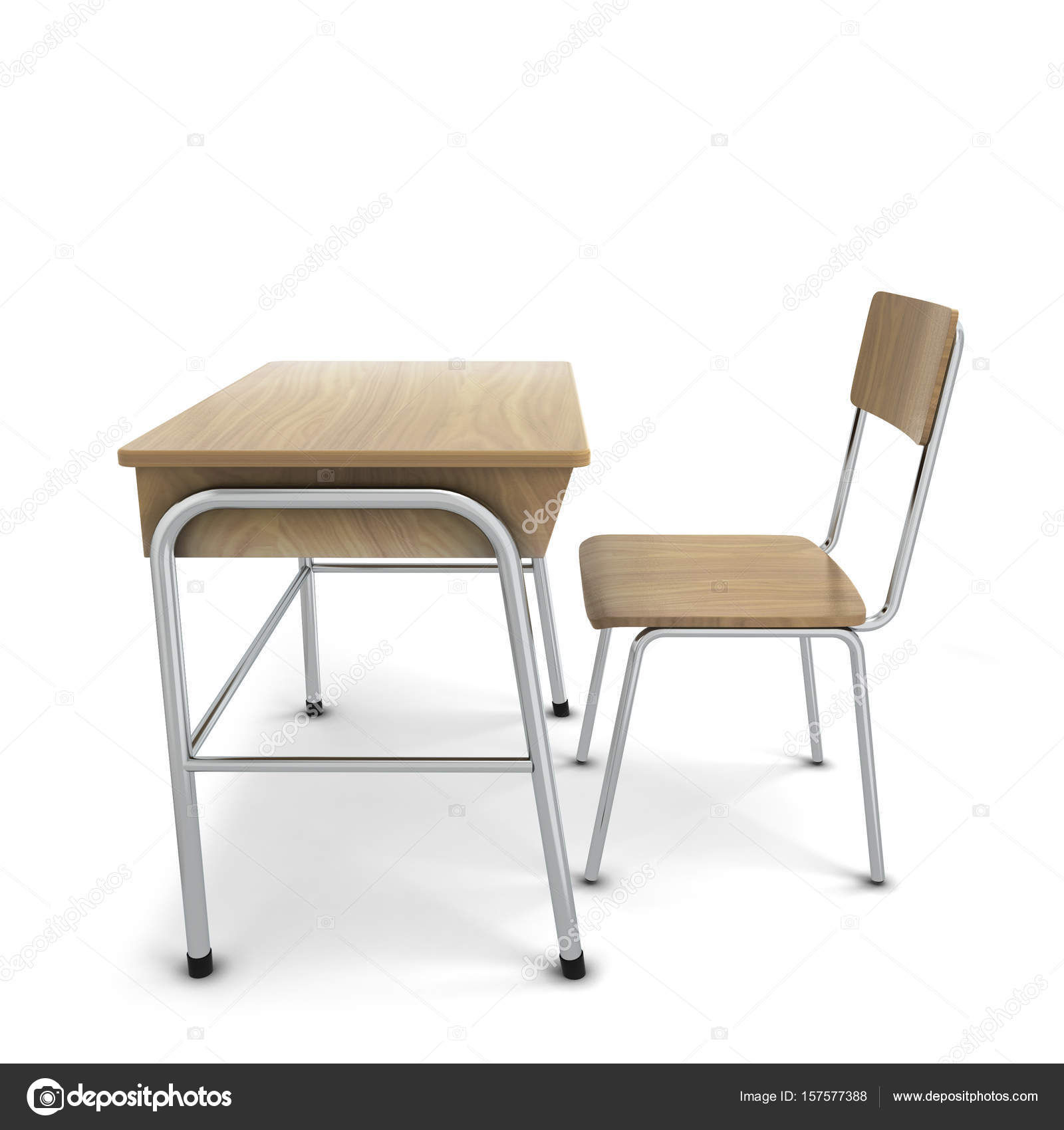 Schule Schreibtisch Mit Stuhl Stockfoto Montego 157577388