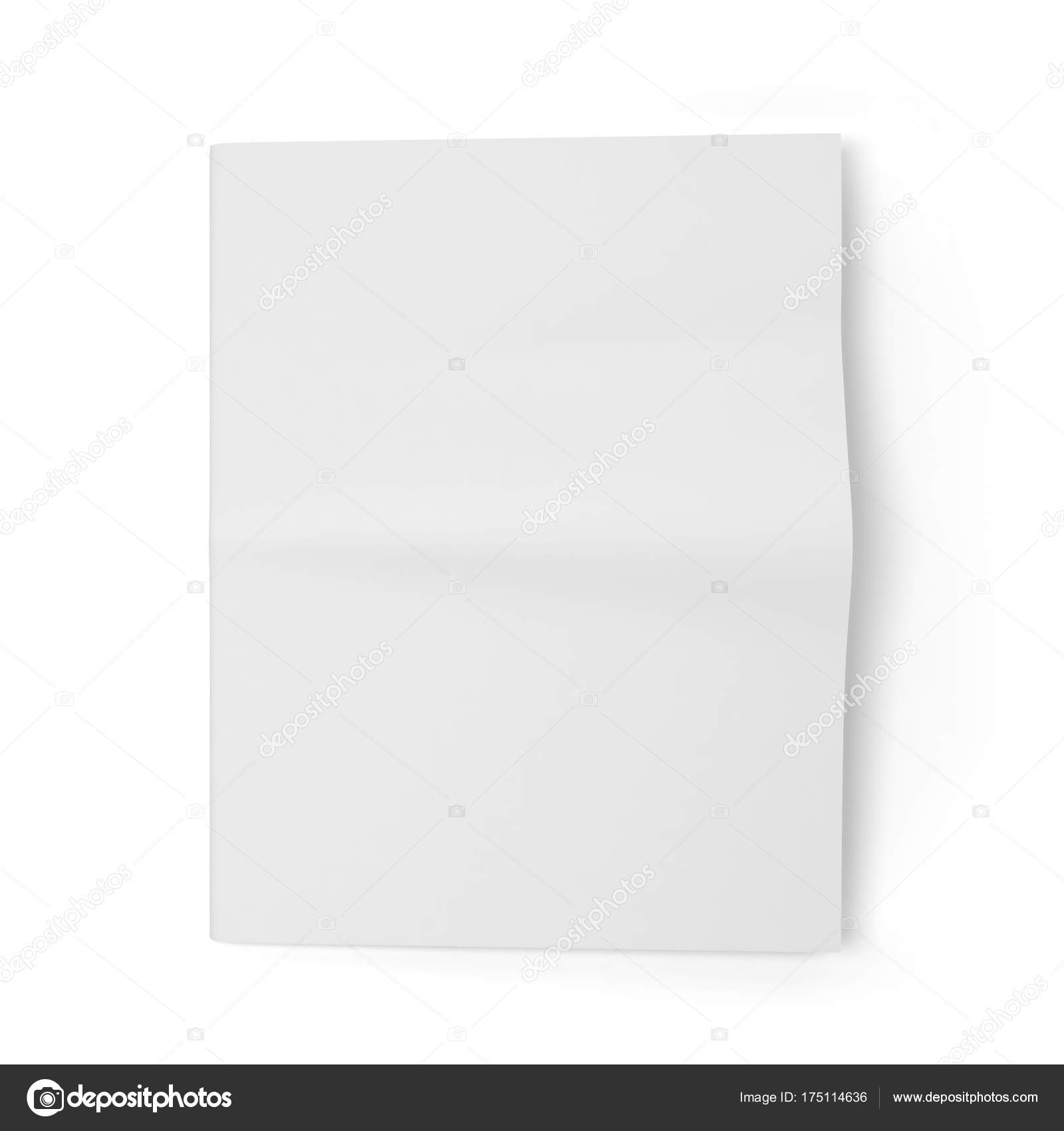 Blank Newspaper Template Stock Image