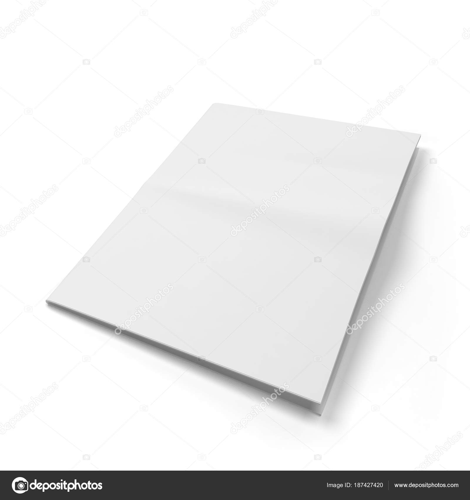 Blank Newspaper Template Stock Photo