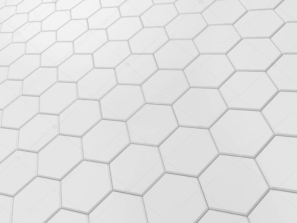 Piastrelle Esagonali Bianche : Piastrelle esagonali bianche u foto stock montego