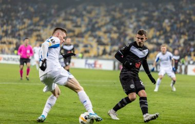 UEFA Europa League football match Dynamo Kyiv - Lugano, December