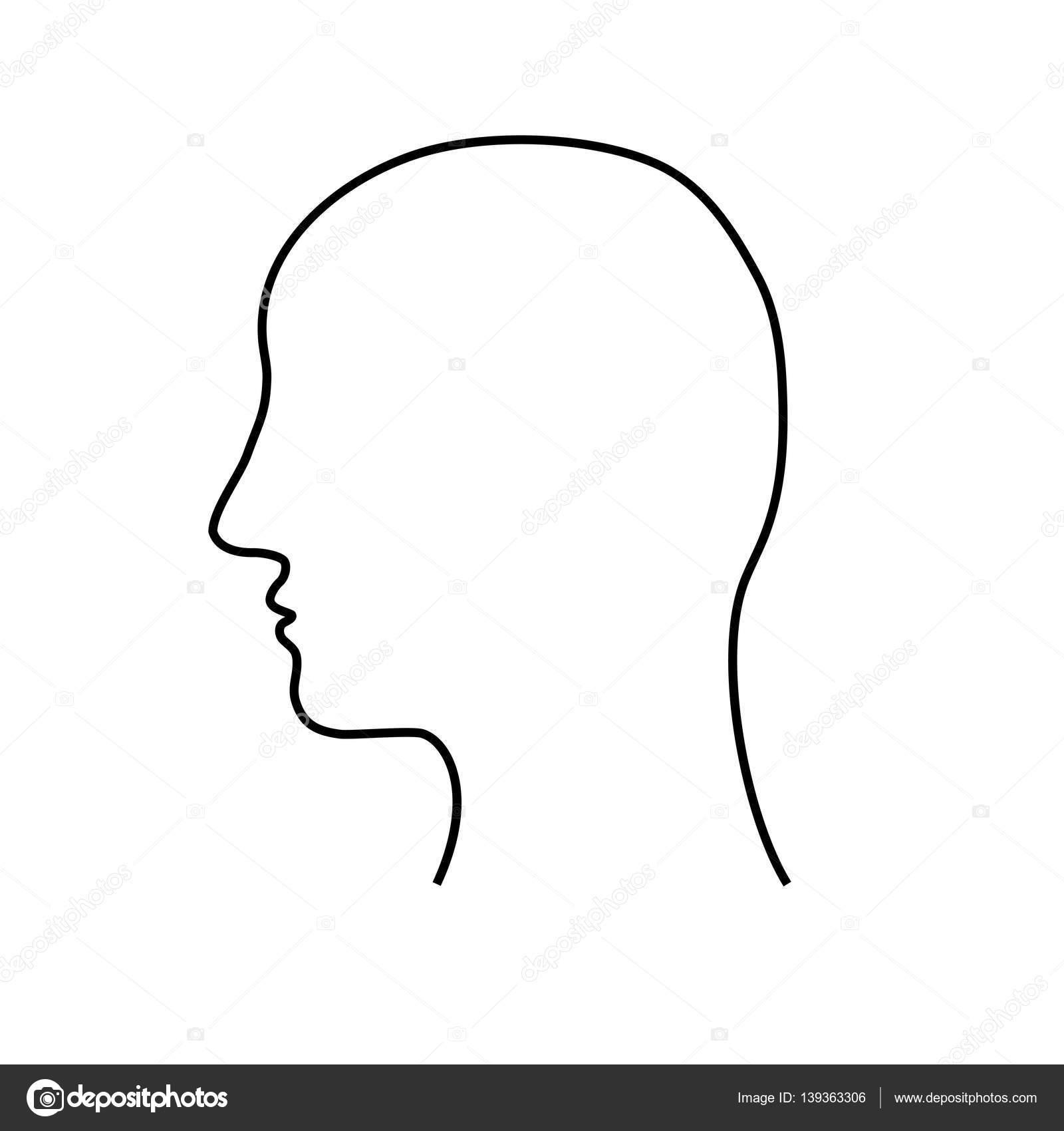 Leere mans Kopf Gliederung — Stockvektor © nata896452 #139363306