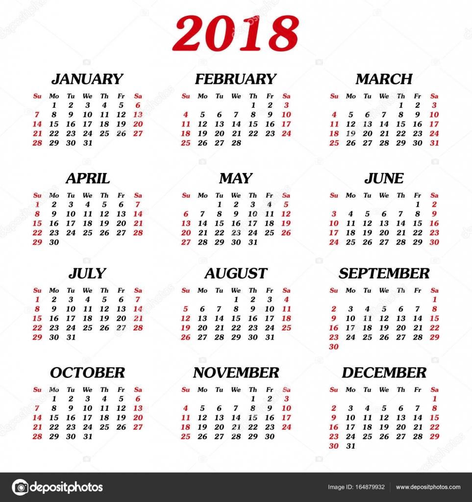 éves naptár Éves naptár 2018 — Stock Vektor © nata896452 #164879932 éves naptár