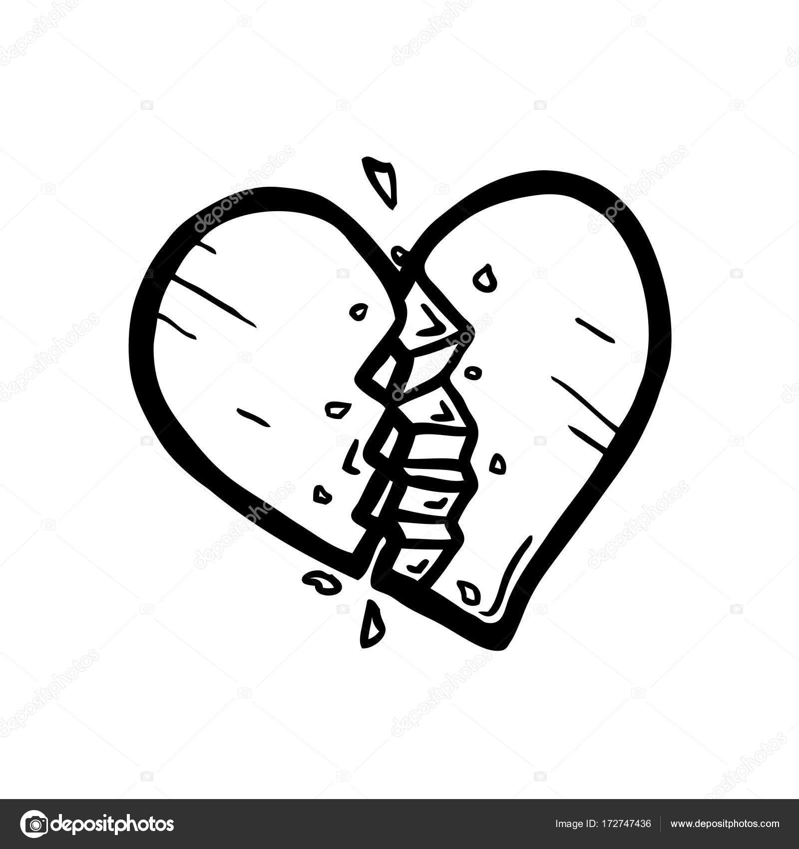 Corazón roto, tema de amor — Archivo Imágenes Vectoriales © SynchR ...