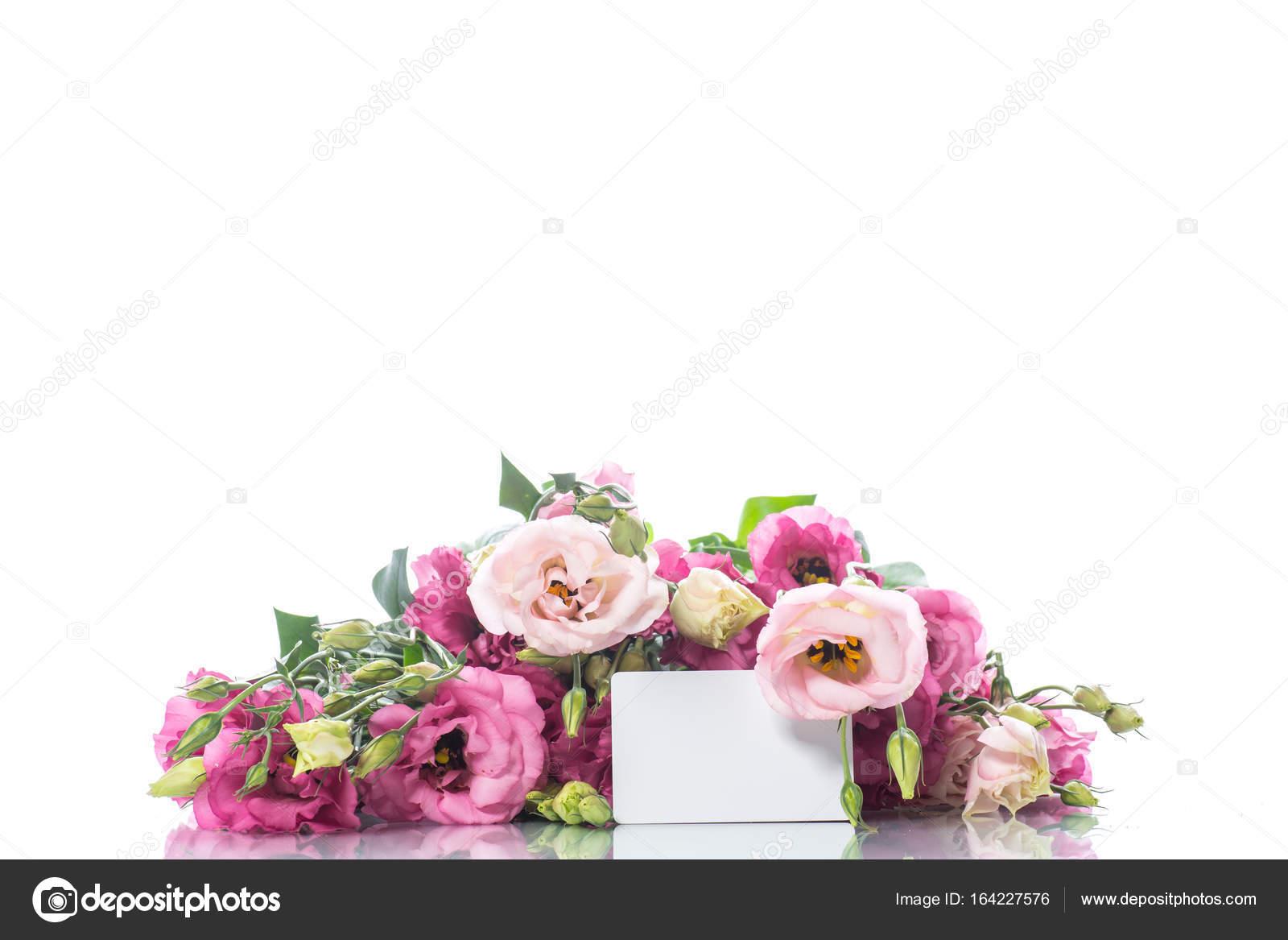 Beautiful Bouquet Of Pink Lisianthus Flowers Stock Photo Rawlik