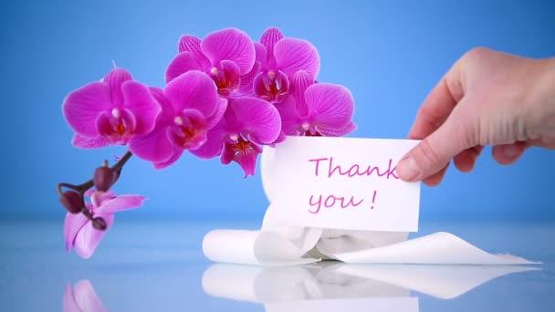 přání s orchidejemi