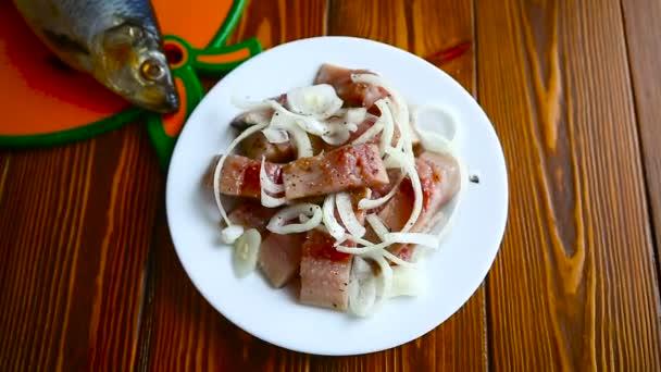 Hering Salat mit Zwiebel