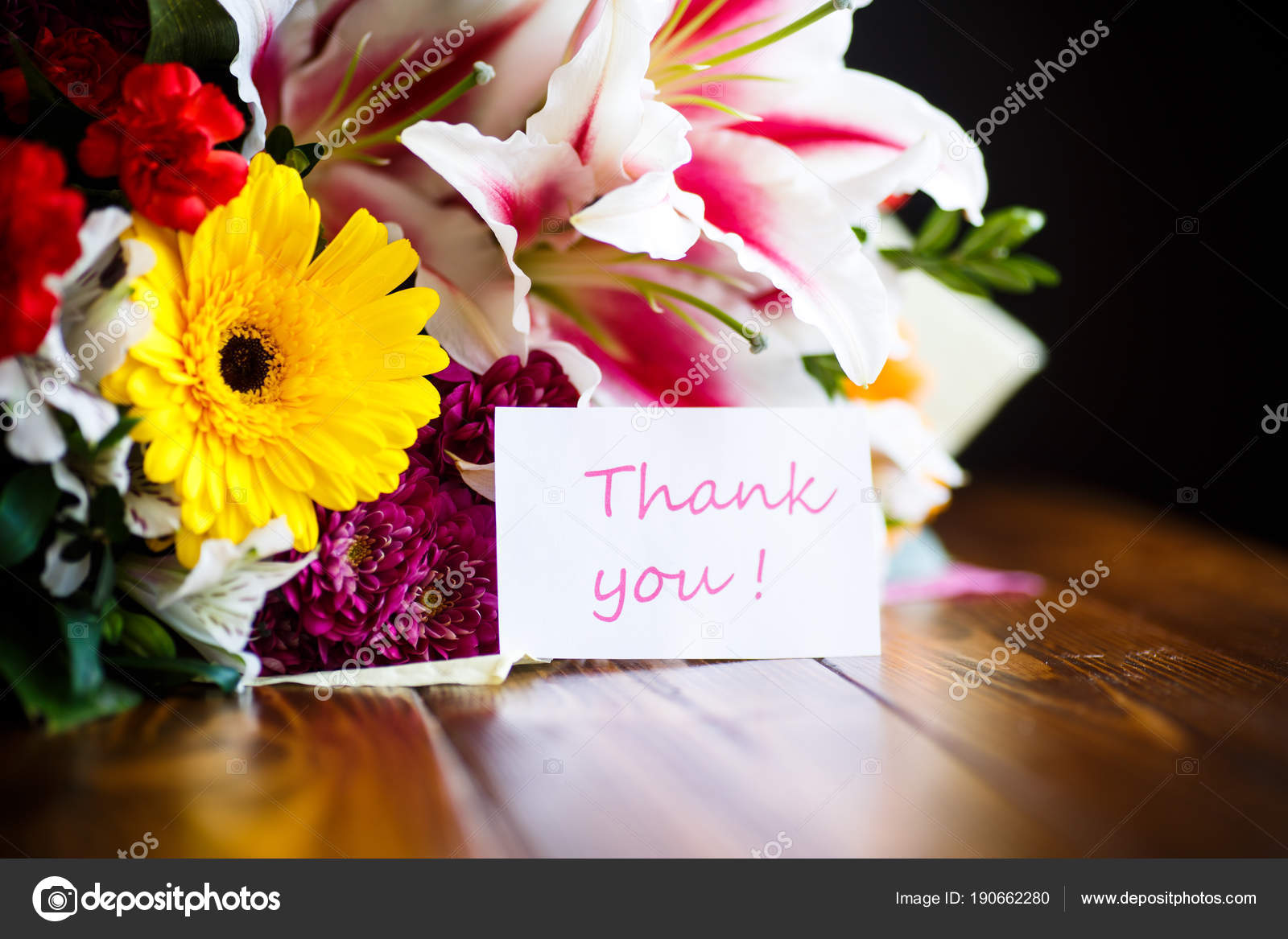 Beautiful bouquet of different flowers stock photo rawlik 190662280 beautiful bouquet of different flowers on a wooden table photo by rawlik izmirmasajfo