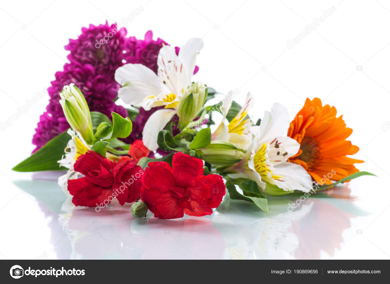 Beautiful bouquet of different flowers stock photo rawlik 190869656 beautiful bouquet of different flowers on white background photo by rawlik izmirmasajfo