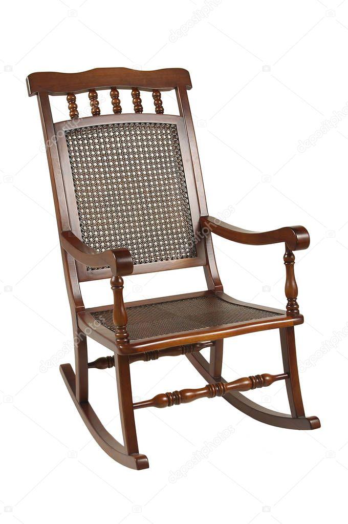 деревянная кресло качалка деревянное кресло качалка стоковое фото
