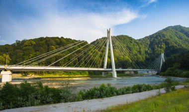 bridge on the road from Sochi