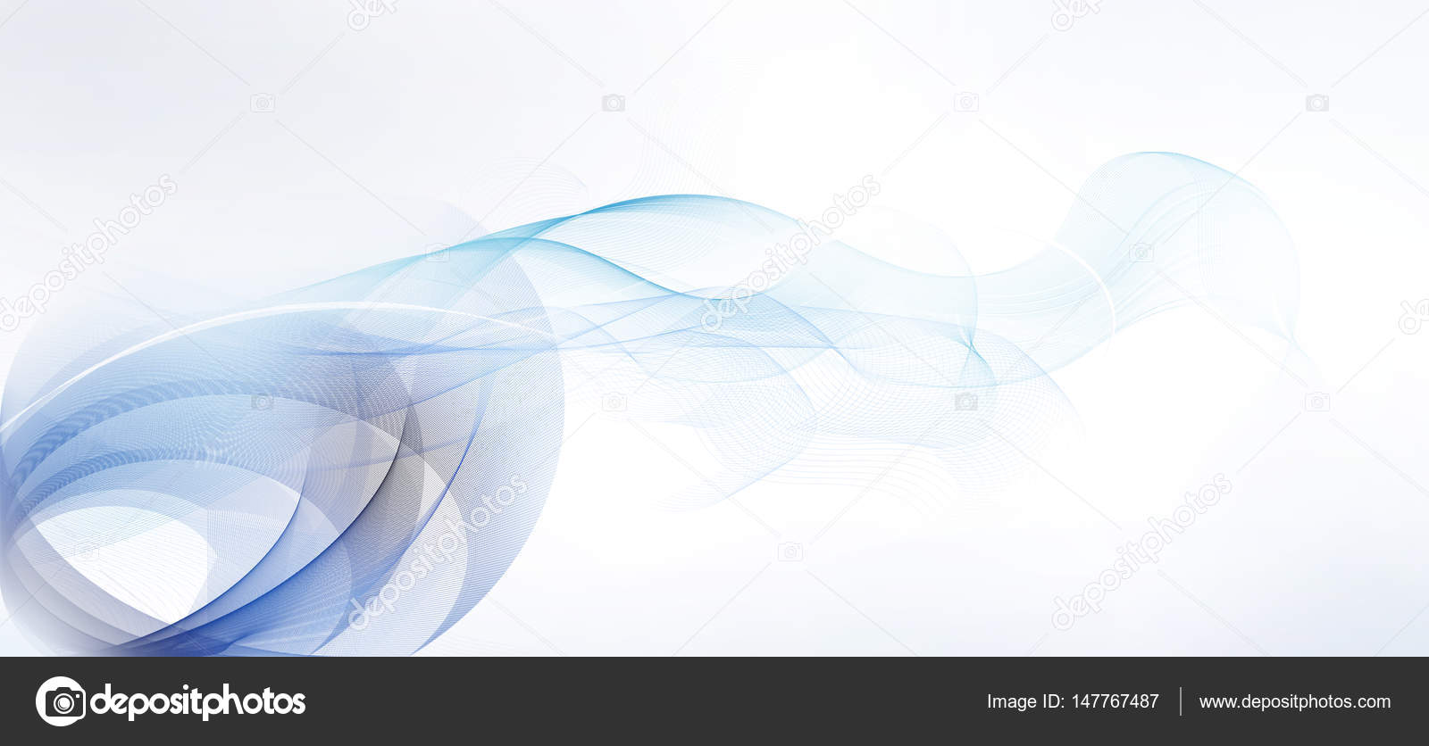 light blue and gray motion lines on white background stock photo